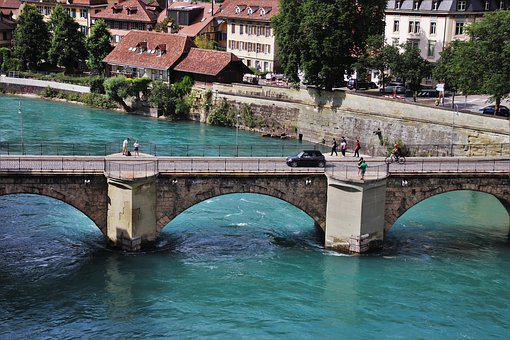 Bern, Switzerland, Bridge, River, The Old Town, History