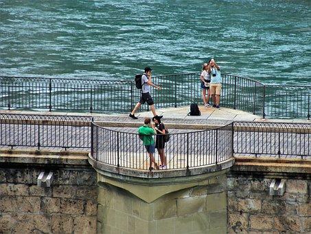 Bern, Switzerland, Bridge, Spacer, Characters, River
