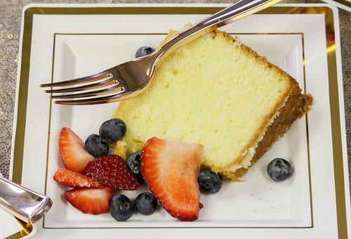 Cake, Blueberry, Yummy, Strawberry, Fork