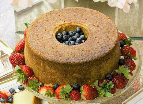 Cake, Blueberry, Yummy, Strawberry