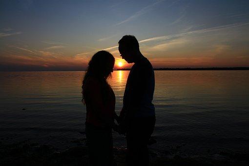 Prayer, Couple, Sunset, In Love, Love