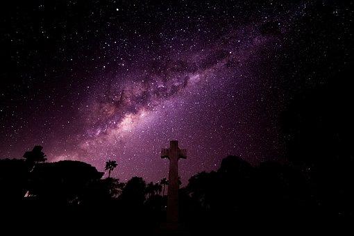 Milky Way, Stars, Cross, Under The Sky, Night Shot