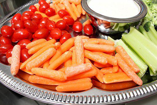 Tomatoes, Carrots, Dip, Silver