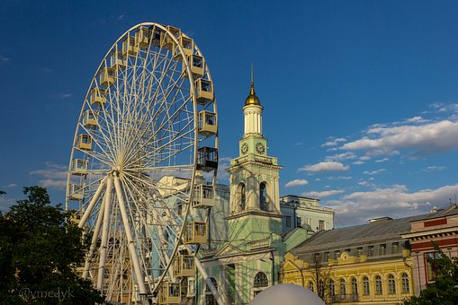Ferris Wheel, Clock Tower, Kiev, Skirt