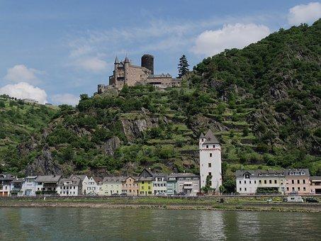 Rhine, Castle, Katz, St, Goarshausen, Rhine Valley