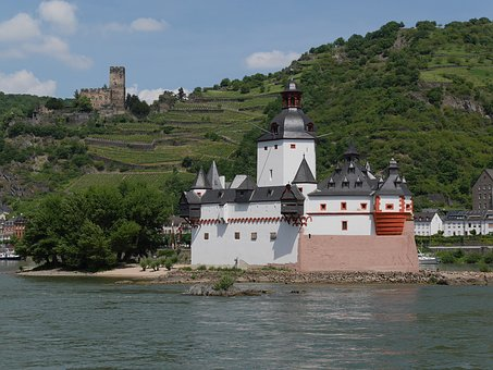 Rhine, Kaub, Castle, Good Rock, Pfalzgrafenstein