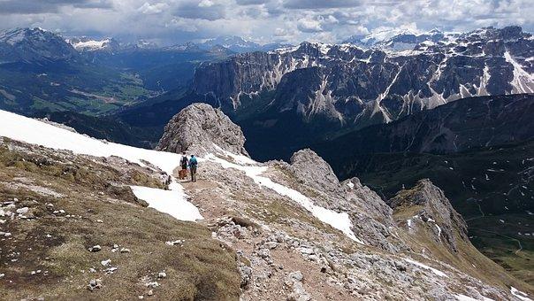 Mountains, Hiking, Mountain Hiking, Down, Trail, Away