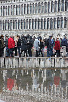 Venice, St Mark's Square, Flood, Water, Lagoon, Italy
