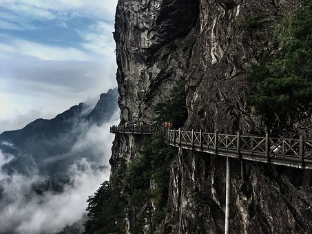 Wugong Mountain, China, Asia, Landscape, Nature, Travel