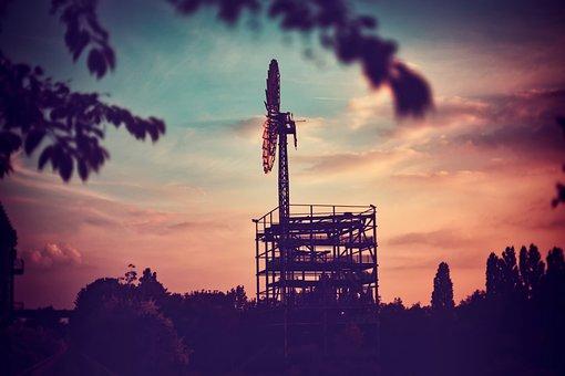 Windmill, Sunset, Dark, Landscape, Wind, Mill, Power