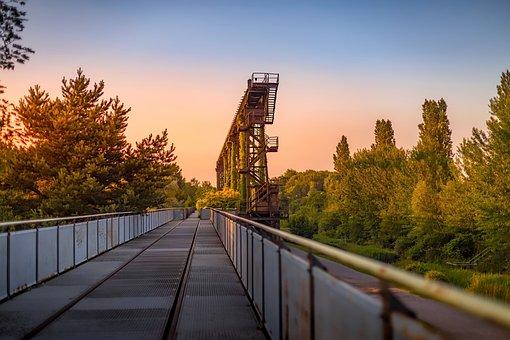 Sunset, Landschaftspark, Duisburg, Landscape, Park