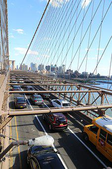 Brooklyn, Bridge, New York, City, Travel, Manhattan
