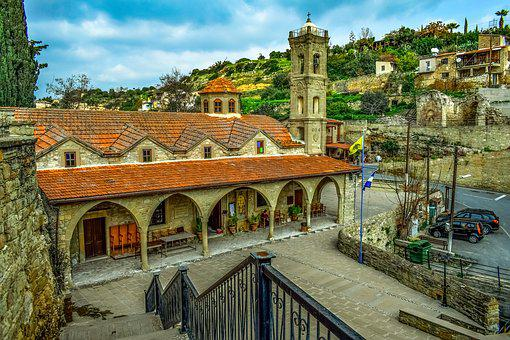 Cyprus, Tochni, Architecture, Traditional, Church, Old
