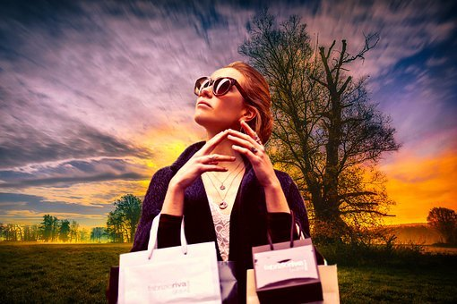 Shopping, Shopping Bags, Outdoor, Beautiful, Beauty