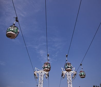 Cable Car, Ride, High, Sky, Tourism, Holiday