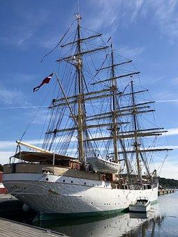 Ship, Training Ship, Denmark, Maritim, Sailing Ship