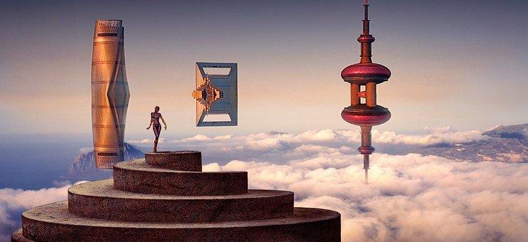 Fantasy, Science Fiction, Float, Surreal, Photo Montage