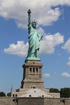 Lady, Liberty, Statue, Freedom, Symbol, America, Usa