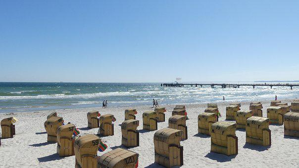 Beach, Clubs, Baltic Sea, Summer, Coast, Recovery, Sky