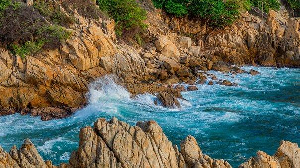 Beach, Acapulco, Mexico, Tropical, Summer, Mexican