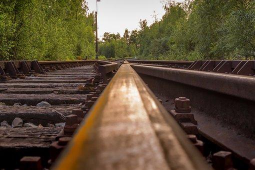 Railroad, Tracks, Horizon, Railway, Perspective, Sunset