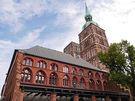 Stralsund, Town Hall, Church Steeples, St Nikolai