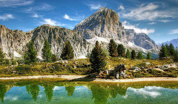 Mountains, Dolomites, Italy, Alpine, View, Nature