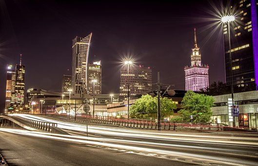 Warsaw, Central Railway Station, Skyscrapers