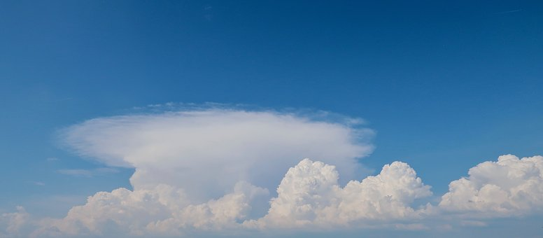 Clouds, Sky, Weather, Cumulus Clouds, Summer, Blue