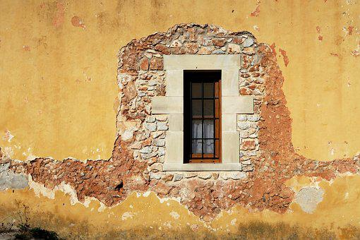 Window, Old Wall, Old, Old Windows, Wall Stone