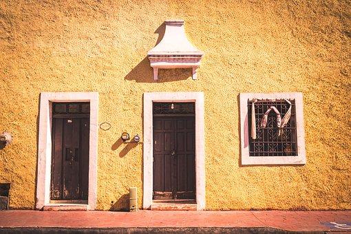 Mexico, Valladolid, Yucatan, Street, America, Old, City