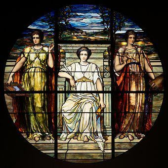 Glass, Stained, Arts, Roman, Stained Glass