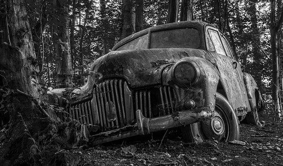 Auto, Car Cemetery, Lost Places, Oldtimer, Wreck