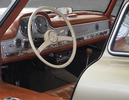 Transport, Automobile, Veteran, Steering Wheel