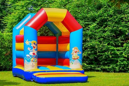 Bouncy Castle, Air Cushion, Inflatable, Soft, Children