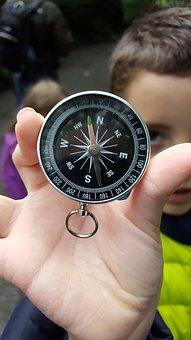 Compass, Boy, Macro, Child, Kid, Travel, Childhood
