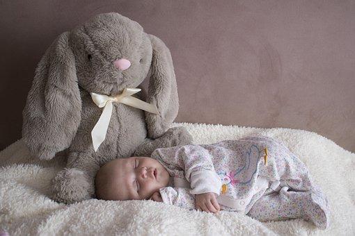 Baby, Newborn, Sleep, Girl, Pink, Bed, Child, Childhood