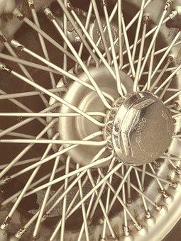 Classic Car, Vintage, Wheel, Wheels, Spokes, Spoke