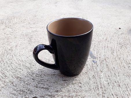 Coffee, Black Mug, Black Cup, Morning Starter