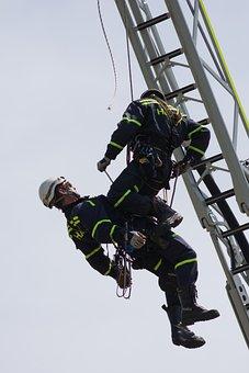 Fireman, Eig, Rescue, Ladder, Platform