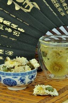Tea, Tea Drink, Chrysanthemum Tea, Fan