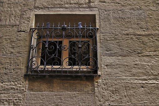 Old Window, Plaster, Wall, Figure, Lake Dusia