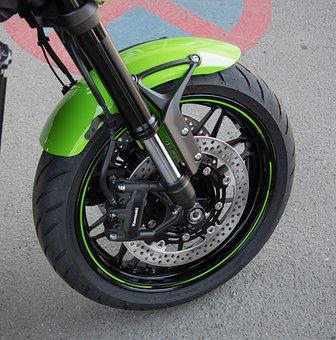Motorcycle, Front Wheel, Brake System, Disc Brake
