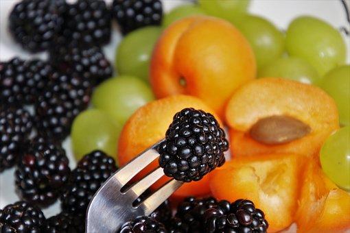 Fruit, Black Raspberry, Ripe Fruit, Fork, Fresh