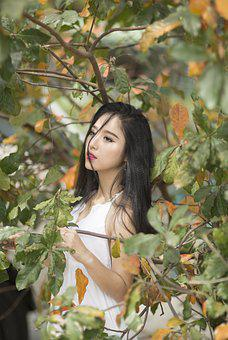 Girl, Girl In The Forest, Nice, Girly, Beautiful, Young