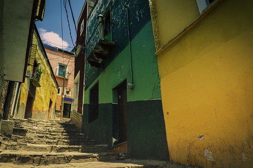 Mexico, Guanajuato, City, Cityscape, Colorful, Travel