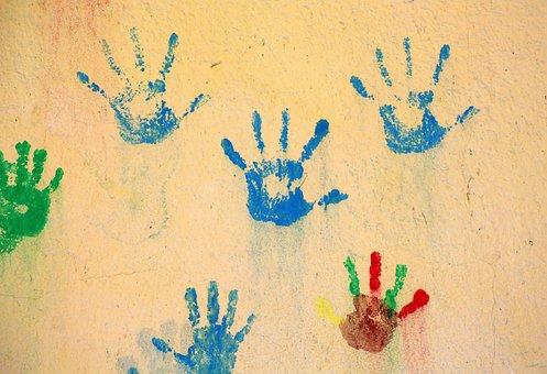 Reflection Hand, Children, Fun, Hands, Integration Of