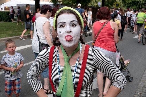 Circus, Fun, Hilarity, People, Street