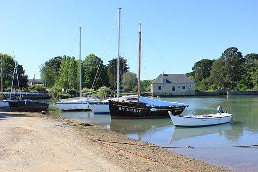 Sea, Golf Morbihan, Brittany, Port, Landscape