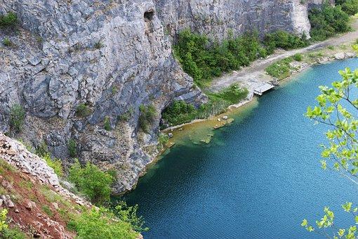 Czech Republic, Limestone Quarry, Limestone, Mořina